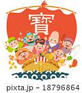 宝船の七福神 18796864