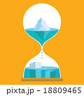 ウォーター ベクター 砂時計のイラスト 18809465