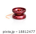 Red yoyo with twine on the white background 18812477
