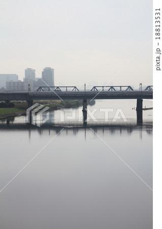 多摩川と鉄橋 18813531
