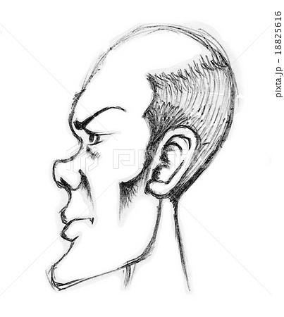 男性の横顔のイラスト素材 18825616 Pixta