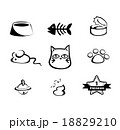 Vecter set of hand-draw cat icon  18829210