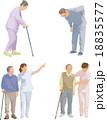シニア 介護 老後のイラスト 18835577