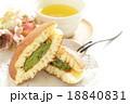 どら焼き 緑茶 抹茶クリームの写真 18840831