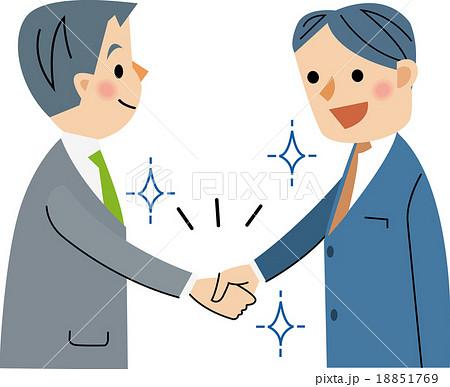 契約成立 握手のイラスト素材 [1...