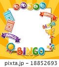 Bingo or lottery game background with balls and 18852693