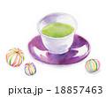 緑茶 おやつ お茶のイラスト 18857463