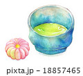 抹茶 和菓子 おやつのイラスト 18857465