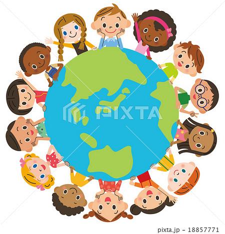 地球を囲む子供達 18857771