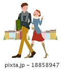 ショッピング中の男女 18858947
