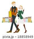 ショッピング 買い物 夫婦のイラスト 18858949