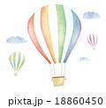 気球 空 飛ぶのイラスト 18860450