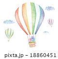 気球 飛ぶ 熱気球のイラスト 18860451
