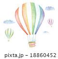 気球 飛ぶ 熱気球のイラスト 18860452