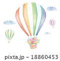 飛ぶ 熱気球 運ぶのイラスト 18860453