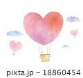 気球 飛ぶ 熱気球のイラスト 18860454
