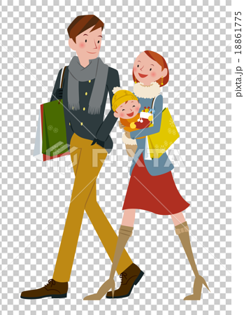 Family in shopping 18861775