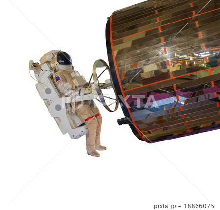 Spaceman in space on white isolate background.の写真素材 [18866075] - PIXTA
