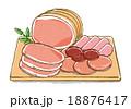 ハムなどの加工肉イラストA 18876417