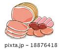 ハムなどの加工肉イラストB 18876418