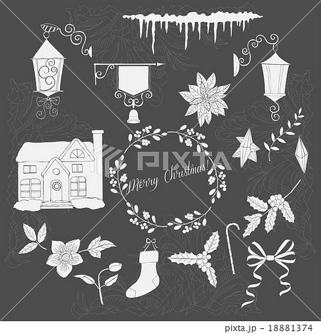 Christmas decoration silhouettes 18881374
