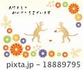 年賀状 猿 はがきテンプレートのイラスト 18889795