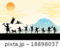 桃太郎とサルの行進 18898037