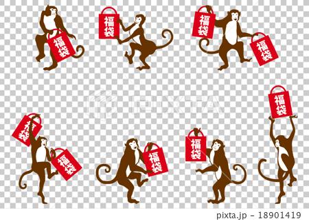 猴子 猴 幸運箱 18901419