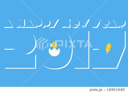 2017年(酉年)の年賀状『スカイブルー』 18901680