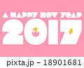 2017年(酉年)の年賀状『ピンク』 18901681