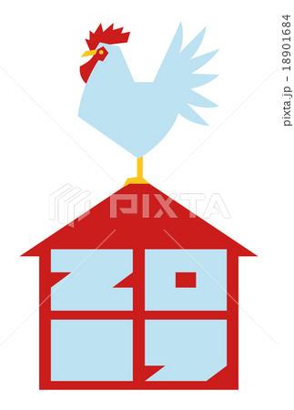 2017年(酉年)の年賀状『風見鶏』 18901684