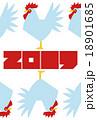 2017年(酉年)の年賀状『整列したニワトリ』 18901685