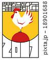 2017年(酉年)の年賀状『朝日とニワトリ』 18901688