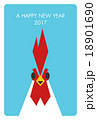 2017年(酉年)の年賀状『ドアップ』 18901690