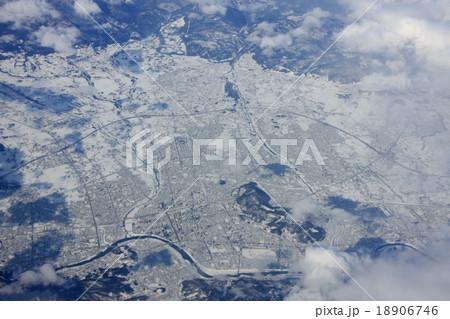 福島県上空から見る福島市周辺 18906746