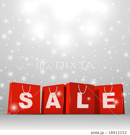 Christmas sale red paper shopping bags 18912252
