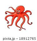 Cartoon red ocean octopus character 18912765