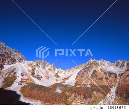 北アルプス・涸沢カールの紅葉と涸沢岳、北奥穂高岳をパノラマ展望 18913676