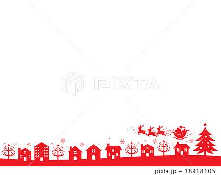 クリスマスの街並み2のイラスト素材 18918105 Pixta
