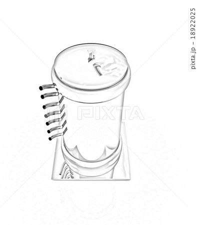 3d abstract metal pressure vesselのイラスト素材 [18922025] - PIXTA