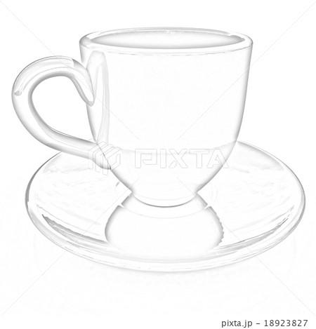 mug on a whiteのイラスト素材 [18923827] - PIXTA