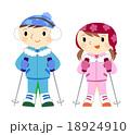 スキーをする子供 18924910