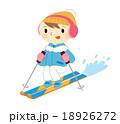スキーする女性 18926272