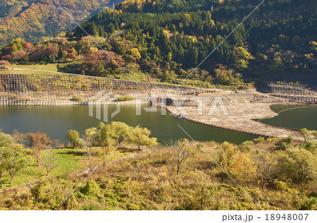 大川ダムの流木回収施設、会津、福島県 18948007