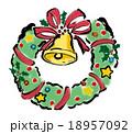 クリスマスリース リース クリスマスのイラスト 18957092