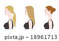 女性 横顔 ヘアスタイルのイラスト 18961713