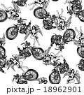 バイクと女神を総柄に 18962901