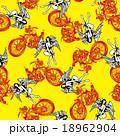 バイクと女神を総柄に 18962904