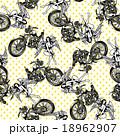 バイクと女神を総柄に 18962907