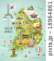 名所 韓国 ベクトル 18964861